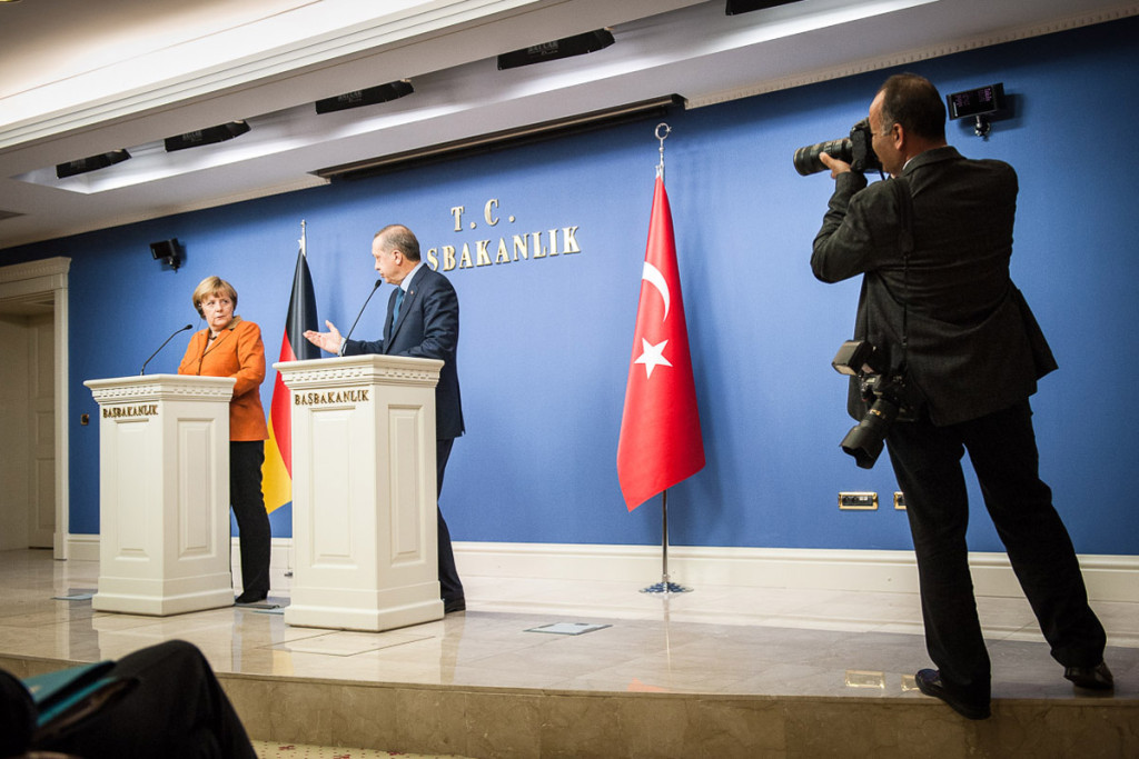 A joint press conference with Prime Minister Recep Tayyip Erdogan at his official residence