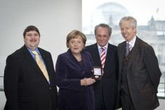 Chancellor Angela Merkel is awarded the European Prize