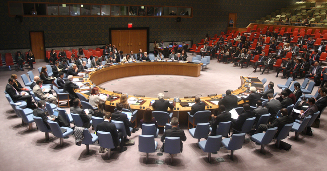Session of the United Nations Security Council