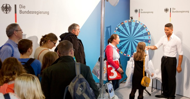 The German government stand proved very popular