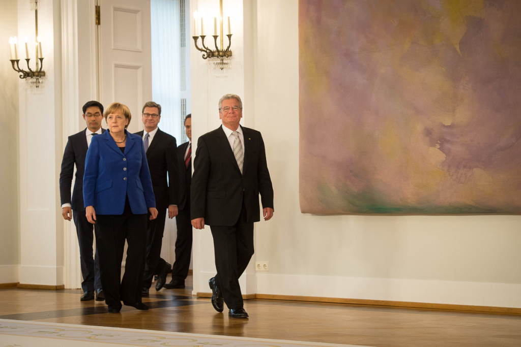 President Joachim Gauck and the Ministers of cabinett.