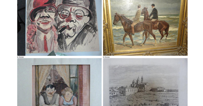 Four of the works of art discovered in Munich: since 11.11.2013 they have been listed on the Lostart Database: according to official sources there are good reasons to believe that they were seized during the Nazi persecution.