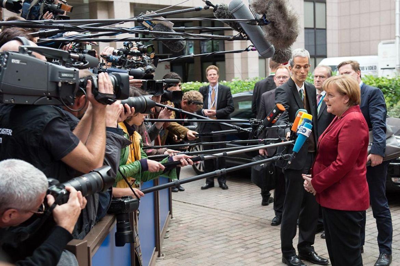 Pressestatement Merkel bei Ankunft