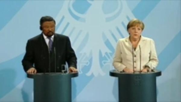 Jean Ping, Angela Merkel